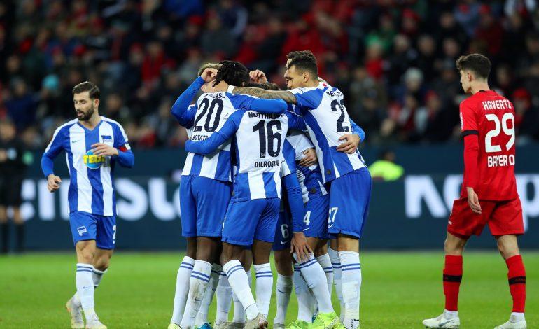 Hertha siegt in Leverkusen