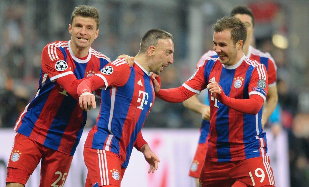 Thomas Müller Franck Ribery Mario Götze