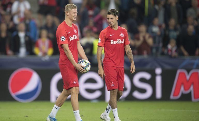 Erling Haaland und Dominik Szoboszlai im Trikot von RB Salzburg