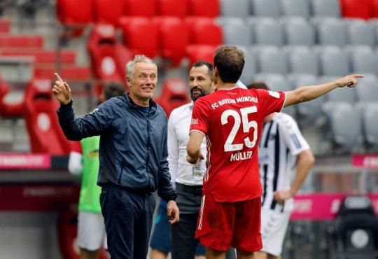 Bundesliga FC Bayern Thomas Müller Christian Streich SC Feiburg