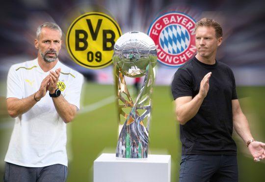 Supercup 2021 DFL FC Bayern München Borussia Dortmund Erling Haaland Dayot Upamecano Marco Reus Robert Lewandowski Marco Rose Julian Nagelsmann Signal-Iduna-Park